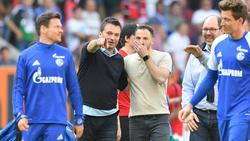 Heidel (l.) und Tedesco (r.) sollen bei Schalke bleiben