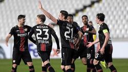 Freude bei der Werkself über den klaren Sieg bei AEK Larnaka