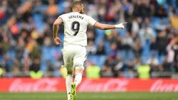 Karim Benzema traf am Sonntagnachmittag gleich dreifach