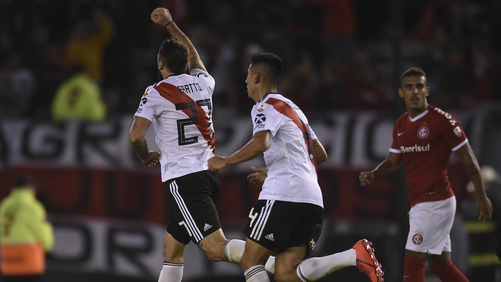 Pratto empató el partido contra el Internacional en el minuto 90. (Foto: Getty)