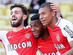 Bernardo Silva (l.) und Thomas Lemar (M.) gelten neben Megatalent Kylian Mbappé als Erfolgsgaranten beim AS Monaco