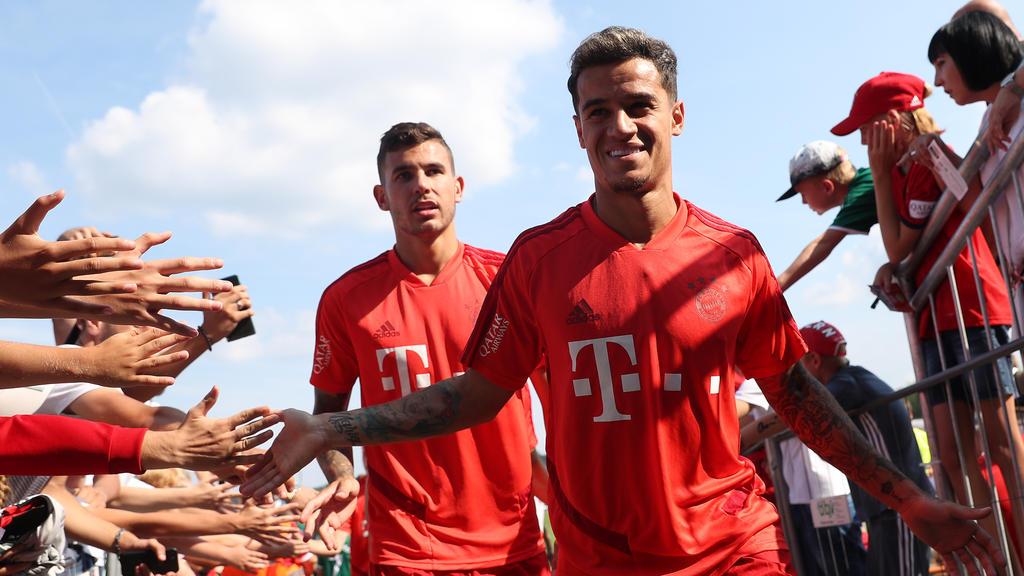 Philippe Coutinho wurde von des Fans des FC Bayern herzlich empfangen