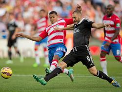 Karim Benzema erzielt das 0:3 beim Auswärtsspiel in Granada