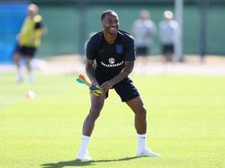 Raheem Sterling zeigt im Training seine gute Laune