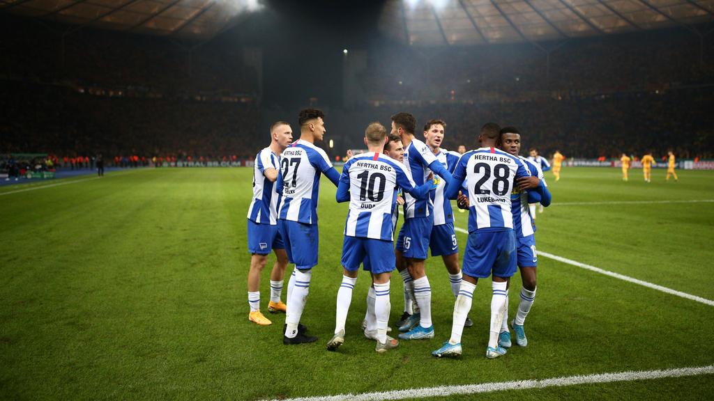 Hertha BSC gewinnt im DFB-Pokal gegen Dynamo Dresden