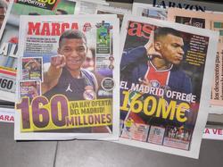 Portadas de la prensa deportiva española.