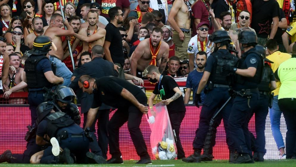 Lens gegen Lille: Erneut Ausschreitungen in der Ligue 1