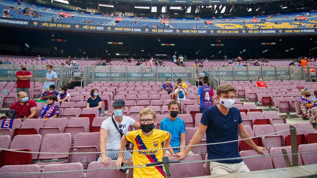 Es dürfen wieder mehr Fans in Camp Nou
