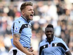 Ciro Immobile schoss mit einem Doppelpack Lazio zum Kantersieg