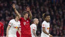 Thomas Müller spielte mit dem FC Bayern remis gegen RB Leipzig