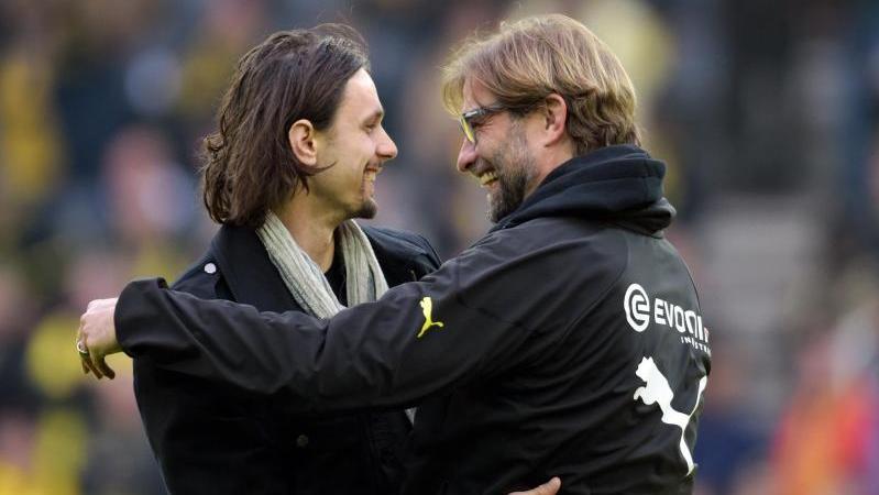 Neven Subotic (l.) und Jürgen Klopp während der gemeinsamen Zeit beim BVB