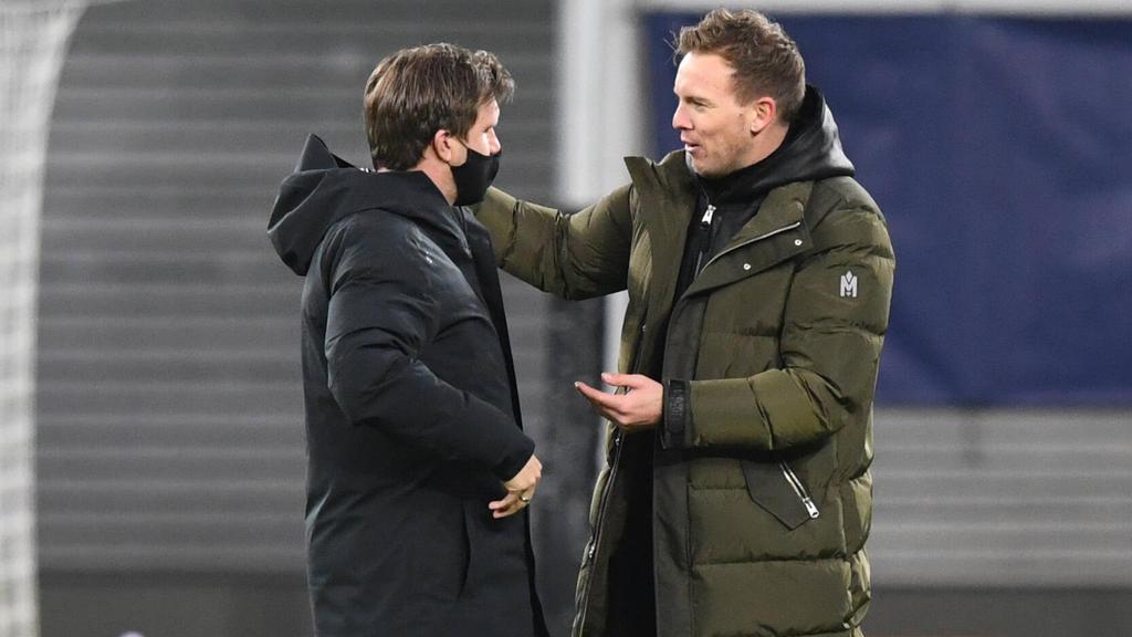 Julian Nagelsmann (r.) ist beim FC Bayern im Gespräch