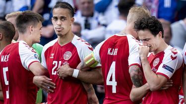 Yussuf Poulsen (l.) und seine Teamkollegen erlebten bange Minuten