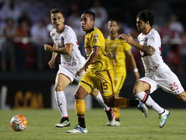 Trujillanos, de amarillo, lograron su primera victoria en Libertadores. (Foto: Getty)