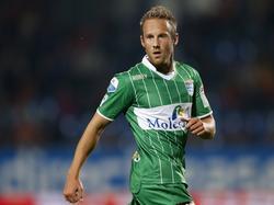 Bart van Hintum is gefocust tijdens het competitieduel Willem II - PEC Zwolle. (03-10-2015)