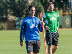 Alexander Nouri (vorn) mit seinem Co-Trainer Florian Bruns
