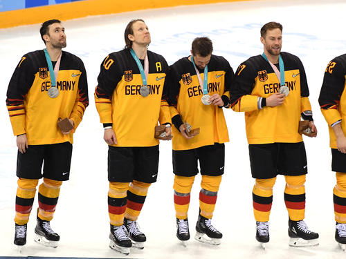 Das deutsche Eishockey-Team holte sensationell Silber