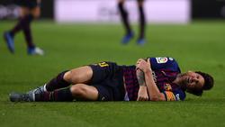 Lionel Messi verletzte sich am rechten Arm
