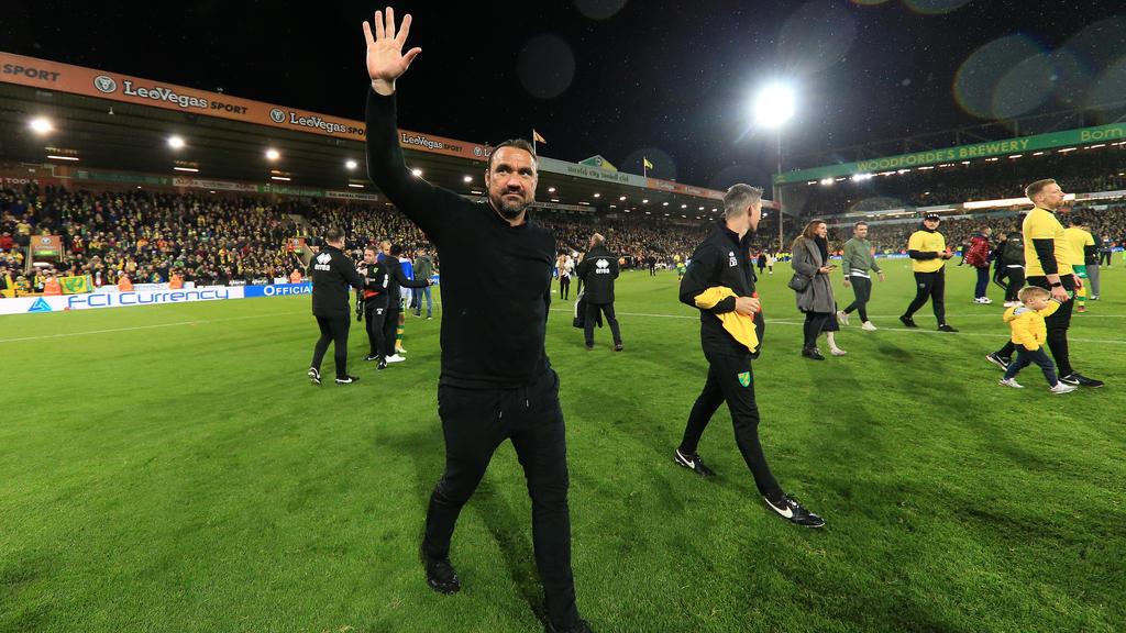 Daniel Farke ist mit Norwich City aufgestiegen