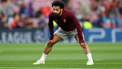 Mohamed Salah calienta en un duelo reciente del Liverpool. (Foto: Getty)