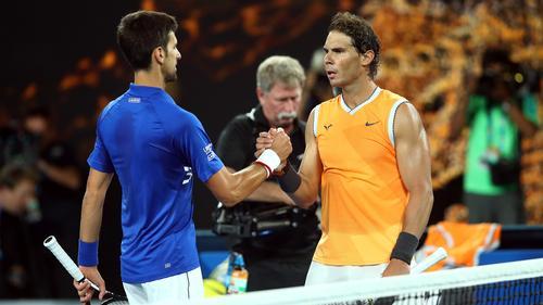 Treffen im Finale aufeinander: Djokovic und Nadal