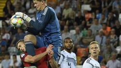 Sasa Kalajdzic (l.) hat sich bei einem Testspiel des VfB Stuttgart verletzt