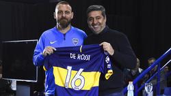 De Rossi en su presentación con Boca.
