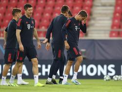 Entrenamiento del Bayern de Múnich.