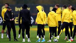 Lucien Favre (l.) muss beim BVB um seinen Job fürchten