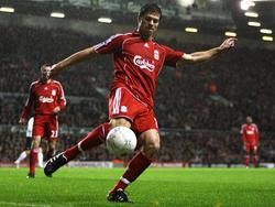 Xabi Alonso en su etapa con el Liverpool.