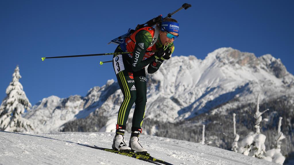 Franziska Preuß belegte im Sprint den sechsten Platz