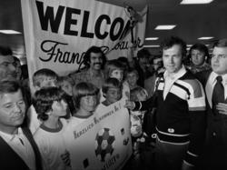 Franz Beckenbauer wurde herzlich empfangen