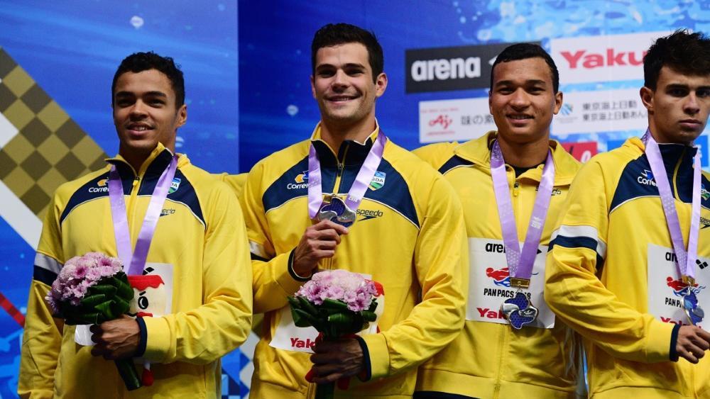 Die Sperre gegen Schwimmer Gabriel da Silva Santos (l.) wurde aufgehoben