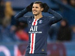 Icardi celebra un tanto con los franceses.