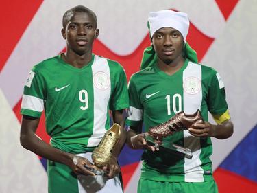 Victor Osimhem (l.) und Kelechi Nwakali (r.) waren die Säulen der nigerianischen Weltmeistermannschaft