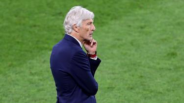 Trainer José Pékerman hat die Niederlage Kolumbiens im Elfmeterschießen zu verarbeiten