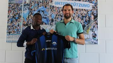 Bernard Tekpetey wechselt vom FC Schalke 04 zum SC Paderborn (Bildquelle: twitter.com/scpaderborn07)