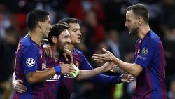 Lionel Messi bejubelt den 4:2-Sieg im Wembley