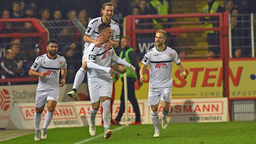 Der KFC Uerdingen hatte beim SV Wehen Wiesbaden Grund zum Jubeln