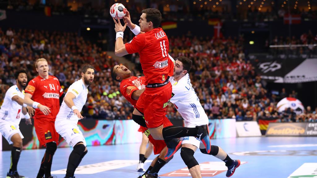 Rasmus Lauge spielte im Angriff eine starke Partie für Dänemark