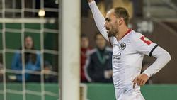 Möchte auch im Duell mit seinem Ex-Klub jubeln: Eintracht-Torjäger Bas Dost