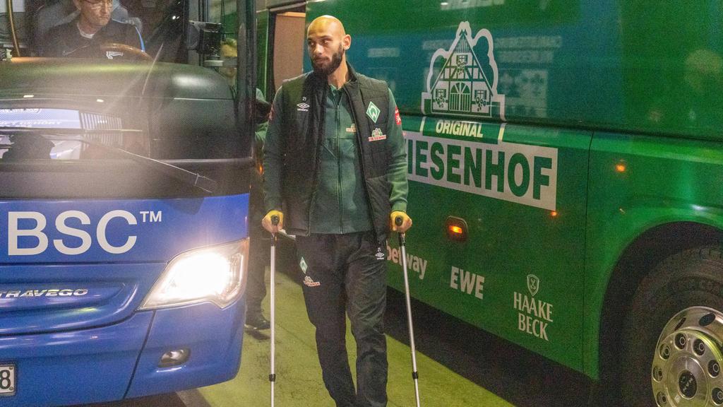 Ömer Toprak von Werder Bremen hatte sich im Pokalspiel in Frankfurt verletzt