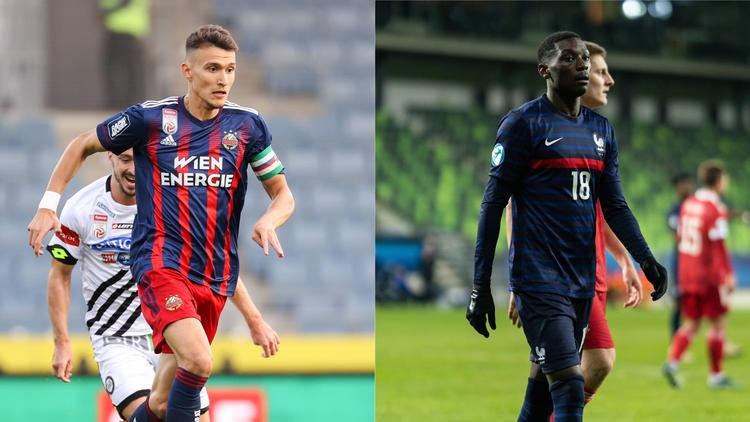 Dejan Ljubicic (l.) und Randal Kolo Muani (r.) werden bei Eintracht Frankfurt gehandelt