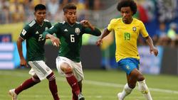 Willian startete für Brasilien beim 2:0 im Achtelfinale gegen Mexiko durch