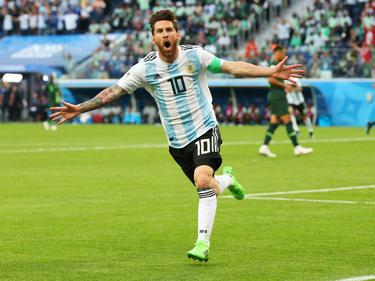 Lionel Messi schoss das wichtige 1:0 für die Argentinier