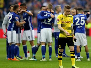El Dortmund perdió el último derbi en casa del Schalke. (Foto: Getty)
