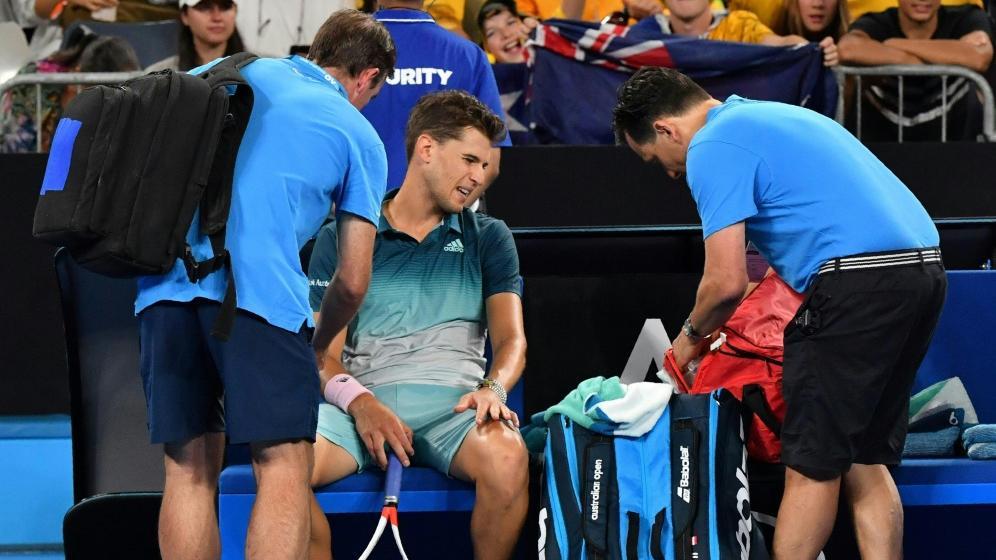 Musste verletzungsbedingt aufgeben: Dominic Thiem