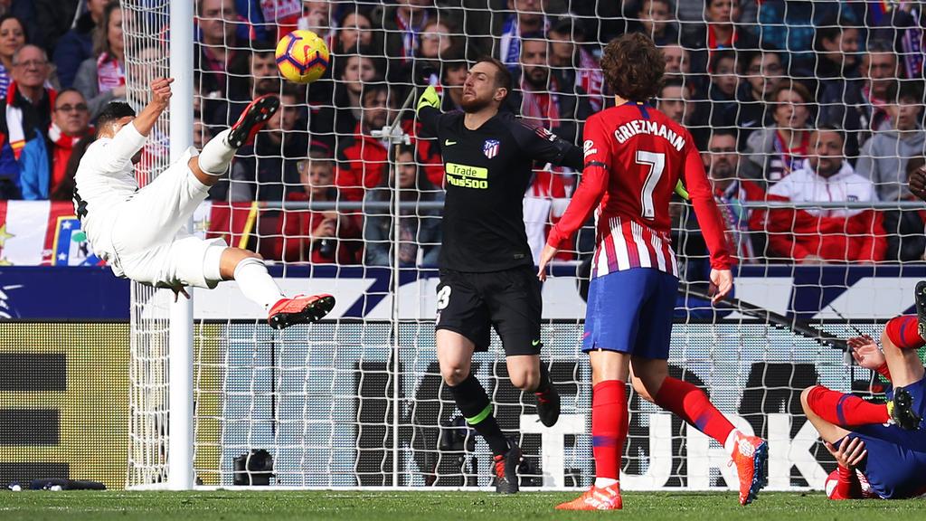 Casemiro erzielte das 1:0 für Real per sehenswertem Seitfallzieher