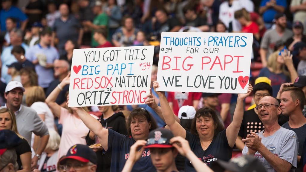 Red-Sox-Fans senden David Ortiz Genesungswünsche