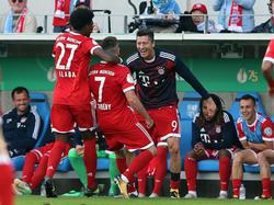 Der FC Bayern meisterte die erste Pokalhürde ohne Probleme